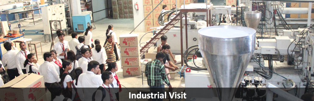 Students during their Industrial Visits.