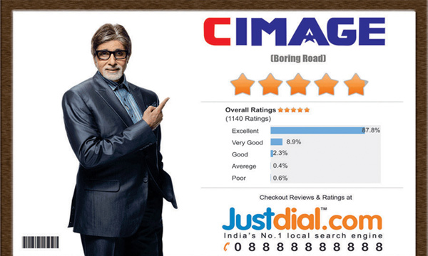 CIMAGE College got 5 Star Rating By Just Dial